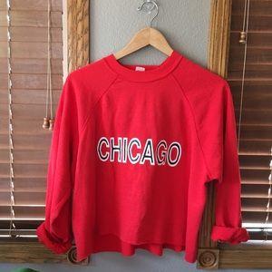 Vintage Cropped Chicago Crewneck Sweatshirt